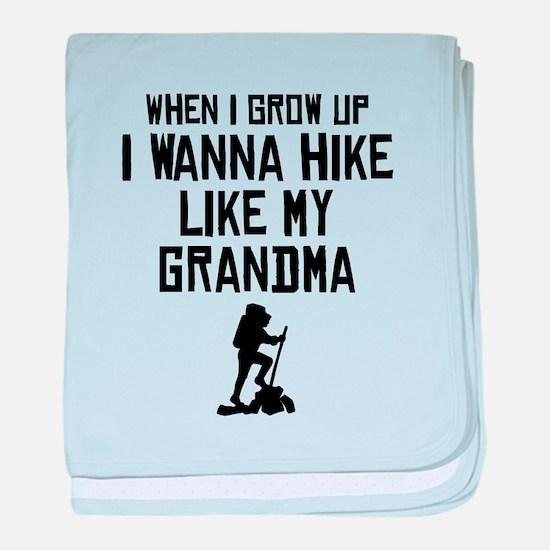Hike Like My Grandma baby blanket