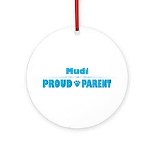 Mudi Parent Ornament (Round)