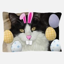 Easter Black and White Kitty Cat Pillow Case
