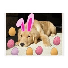 Easter Golden Retriever Puppy 5'x7'Area Rug