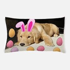 Easter Golden Retriever Puppy Pillow Case