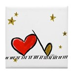 Music for Starry Lovers Tile Coaster