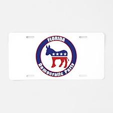 Florida Democratic Party Original Aluminum License
