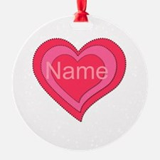 Hearts Design to Personalize Ornament