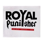 Royal Punisher Logo Throw Blanket