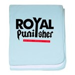 Royal Punisher Logo baby blanket