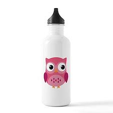 Pink Owl-3 Water Bottle