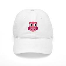 Pink Owl-3 Baseball Baseball Cap