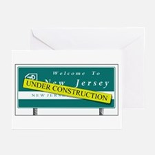 Construction NJ Funny Greeting Cards (Pk of 10