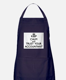 Keep Calm and Trust Your Accountant Apron (dark)