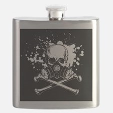 Gas Mask Jolly Roger, Small Flask