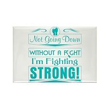 Cervical Cancer Fighting Strong Rectangle Magnet