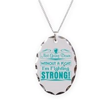 Cervical Cancer Fighting Stro Necklace Oval Charm