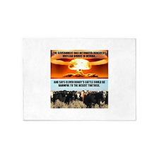 Raid On Bundy Ranch 5'x7'Area Rug