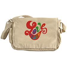 70s Hippie Love Peace Retro Script Messenger Bag