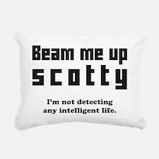Beam Me Up Rectangular Canvas Pillow