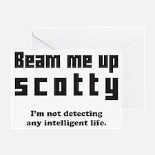 Beam Me Up Greeting Card