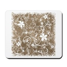 Shabby Chic Floral Mousepad