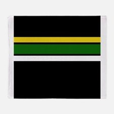 Team Colors 2 ...Yellow,green and white Throw Blan