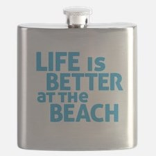 Life Is Better At The Beach Flask