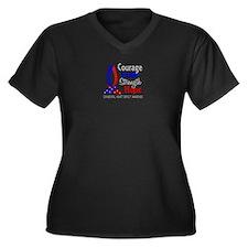 CHD Courage Women's Plus Size V-Neck Dark T-Shirt