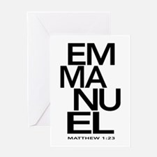 Emmanuel Matthew 1:23 Greeting Cards