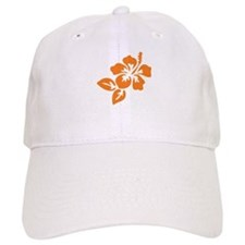 Orange Hibiscus Tropical Hawaii Flower Baseball Cap