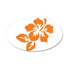 Orange Hibiscus Tropical Haw Wall Decal