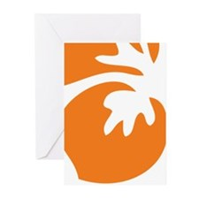 Orange Hibiscus Tropical Greeting Cards (Pk of 20)