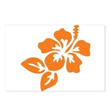 Orange Hibiscus Tropical Postcards (Package of 8)