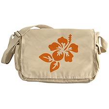 Orange Hibiscus Tropical Hawaii Flow Messenger Bag