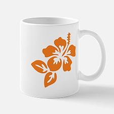 Orange Hibiscus Tropical Hawaii Flower Mug