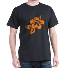 Orange Hibiscus Tropical Hawaii Flowe T-Shirt