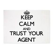 Keep Calm and Trust Your Agent 5'x7'Area Rug