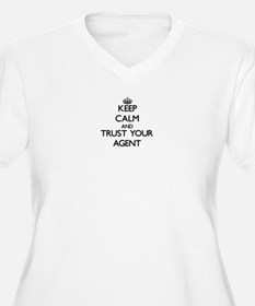 Keep Calm and Trust Your Agent Plus Size T-Shirt