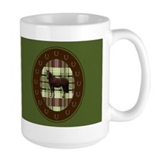 m1horsegreenonbrown Mugs