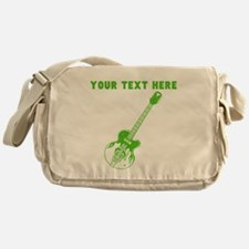 Custom Green Electric Guitar Messenger Bag