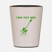 Custom Green Electric Guitar Shot Glass