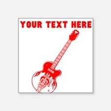 Custom Red Electric Guitar Sticker