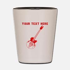 Custom Red Electric Guitar Shot Glass