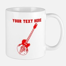 Custom Red Electric Guitar Mugs