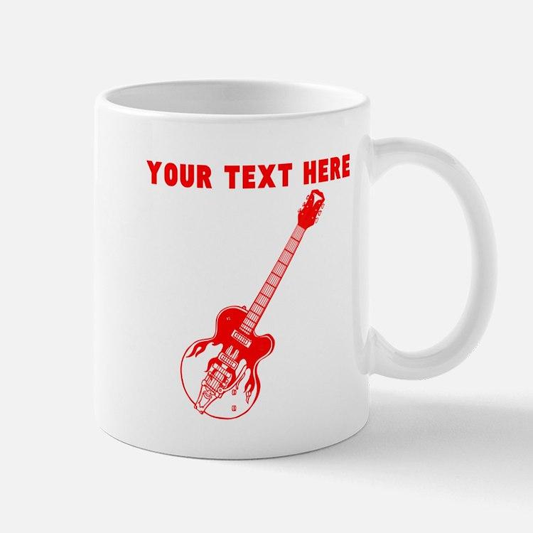 Custom Red Electric Guitar Mugs