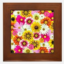 Flowers of Flowers Framed Tile