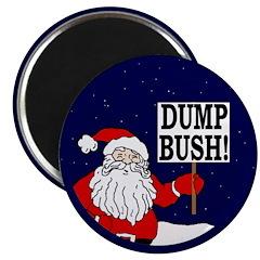 Santa Says Dump Bush Magnet