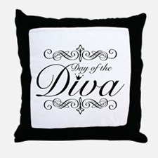 Day of the Diva Throw Pillow