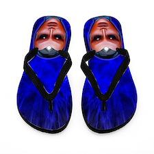 Blue Alien Mental Energy Flip Flops