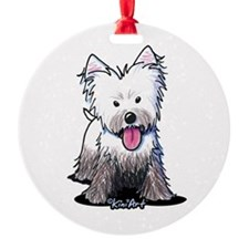 Muddy Westie Ornament