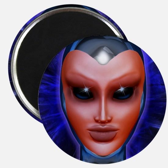 Blue Alien Mental Energy Magnets