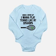 Play Tennis Like My Grandpa Body Suit
