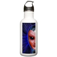 Blue Alien Mental Energy Water Bottle
